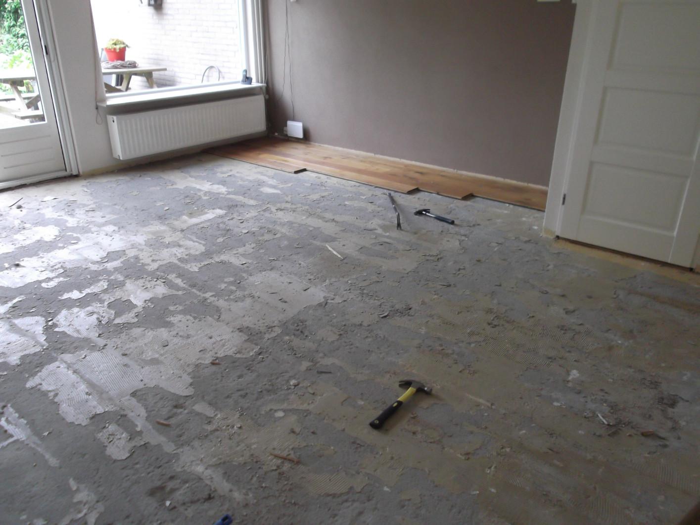 Houten Vloer Tegels : Concordia keuken bad bouwproject van houten vloer naar