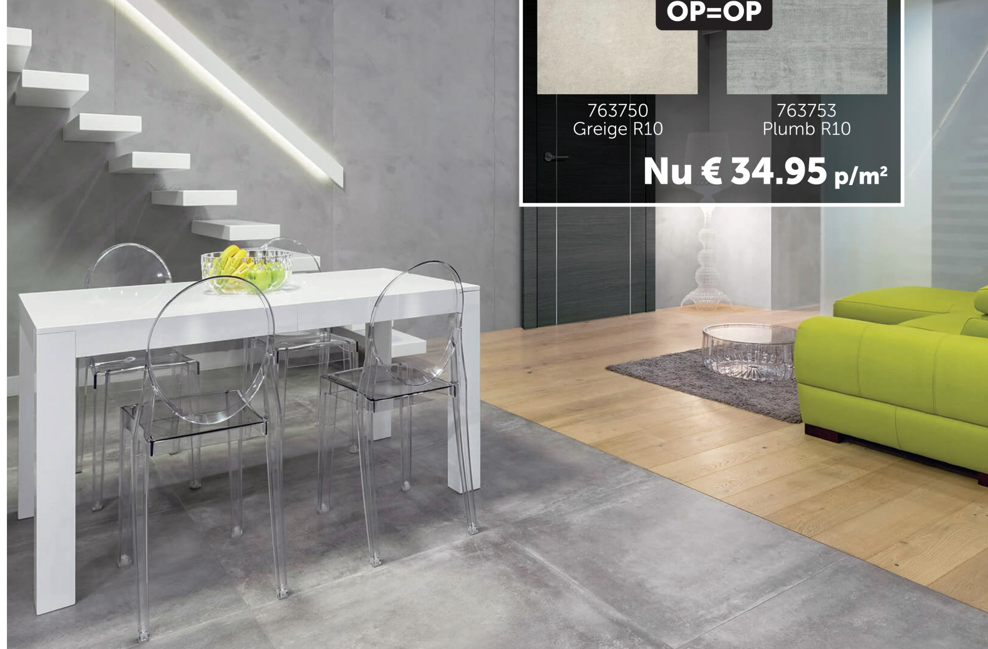 Co-tile Beton One vloertegel
